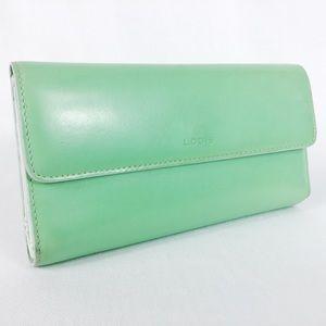 Lodi's Sea Green Woman's Wallet Bifold Snap